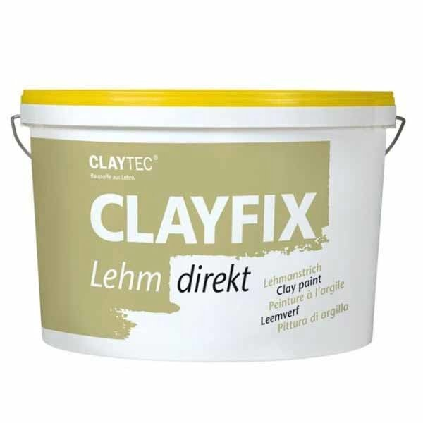 Claytec Clayfix Gladde Leemverf emmer kleuren